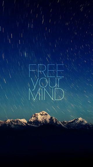 Обои на телефон твой, свобода, синие, разум, небо, free your mind