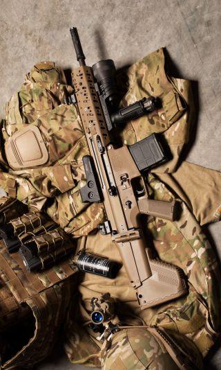 Обои на телефон солдат, оружие, военные, mk11, assault