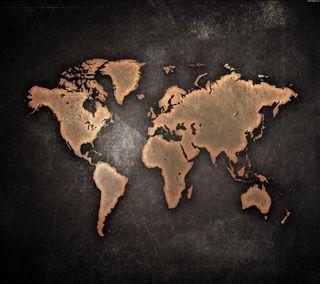 Обои на телефон мир, карта, земля