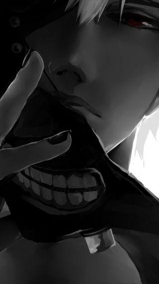 Обои на телефон парень, маска, аниме