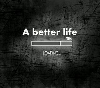 Обои на телефон знаки, черные, лучше, загрузка, жизнь, высказывания, a better life