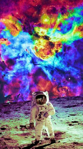 Обои на телефон странные, цветные, нло, наука, луна, красочные, космос, tye, hippy, dye