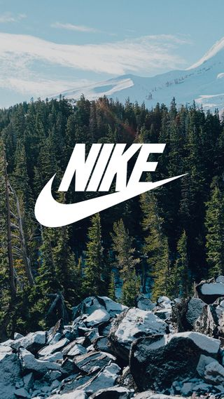 Обои на телефон nike, природа, логотипы, зима, снег, горы, спорт, лес, найк, дерево, камни, холод
