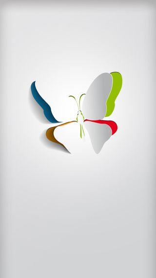 Обои на телефон серебряные, красочные, дизайн, грани, бабочки, арт, s7, art
