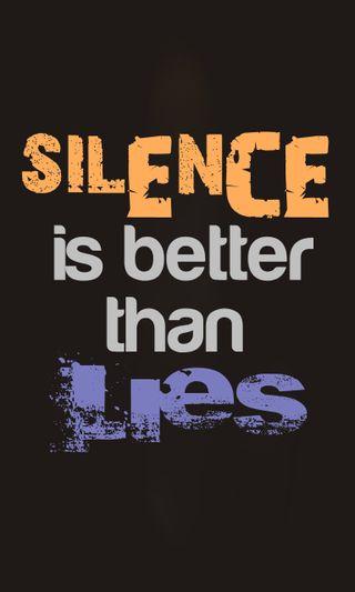 Обои на телефон ne, sayig, цитата, знаки, тишина, ложь