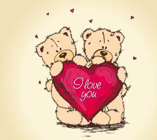 Обои на телефон тедди, медведи, сердце, приятные, новый, мультики, любовь, игрушка, love