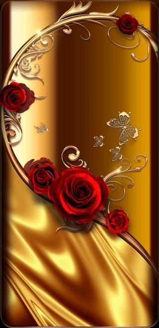 Обои на телефон симпатичные, розы, прекрасные, золотые, бабочки, goldenrosedream, butterfly beautiful