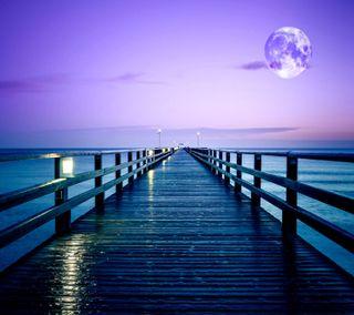 Обои на телефон море, приятные, природа, океан, новый, небо, красочные, естественные, wharf, hd