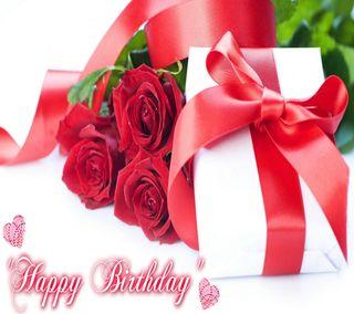 Обои на телефон день рождения, счастливые, сердце, розы, подарок, милые, красые