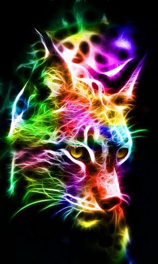 Обои на телефон фрактал, красочные, абстрактные, lynx