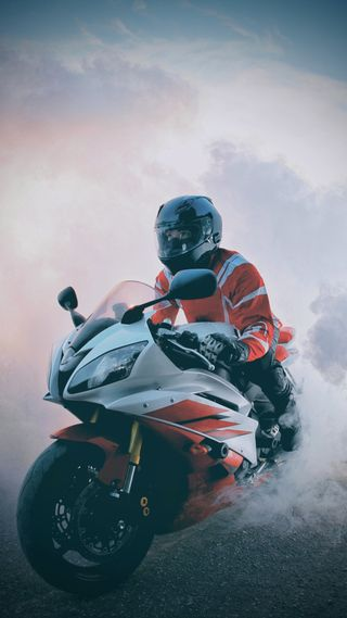 Обои на телефон ямаха, мотоциклы, всадник, бернаут, yamaha wallpaper, yamaha r6 wallpaper, yamaha r6, yamaha, stunt, motorcycle wallpaper, burnout wallpaper