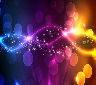 Обои на телефон боке, цветные, светящиеся, сверкающие, дизайн, абстрактные