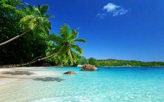 Обои на телефон остров, пляж