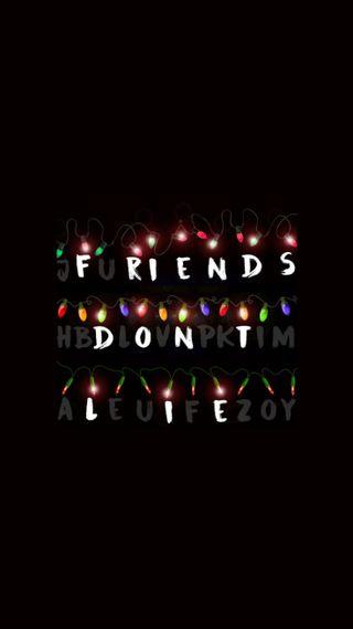 Обои на телефон странные, одиннадцать, не, ложь, друзья, дела, lightbulbs, friends dont lie