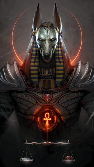 Обои на телефон рисунки, фантазия, крест, египет, древний, pharoah, libra, anubis