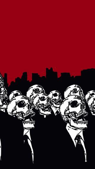 Обои на телефон анонимус, череп, skull anonymous, gsc
