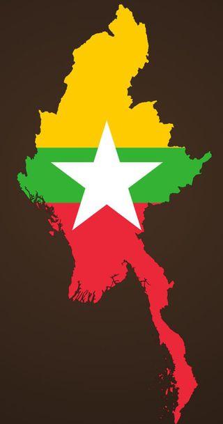 Обои на телефон карта, флаг, звезда, myanmar wallpaper, myanmar flg, myanmar