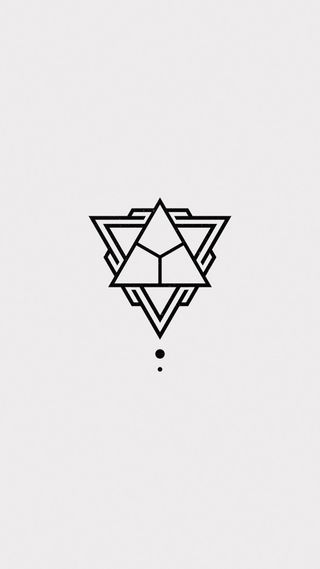 Обои на телефон треугольник, symbole