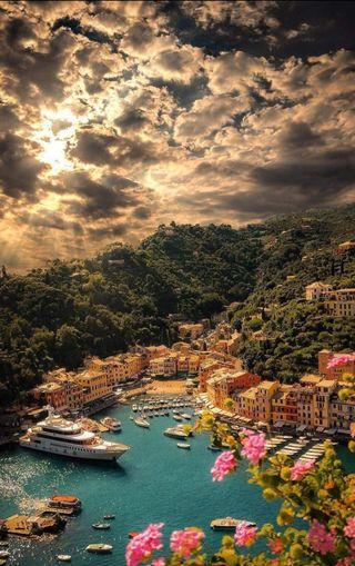 Обои на телефон природа, пейзаж, италия, 4k, yacht, wallpaper hd