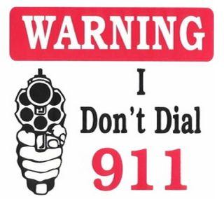 Обои на телефон предупреждение, пистолет, оружие, забавные, dial, 911 - warning, 911