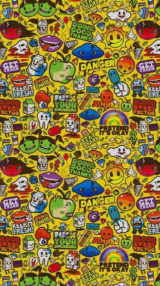 Обои на телефон случайные, сумасшедшие, поп, мультфильмы, милые, граффити, бренды, арт, supreme, hyper random, hd, art, 929