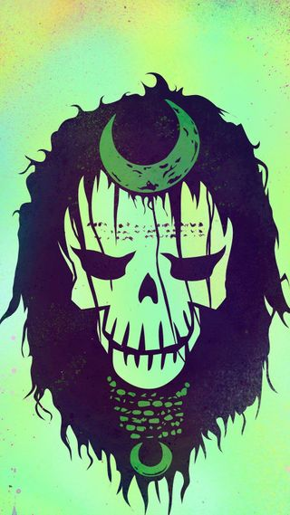 Обои на телефон череп, фильмы, самоубийца, отряд, логотипы, комиксы, enchantress, dc