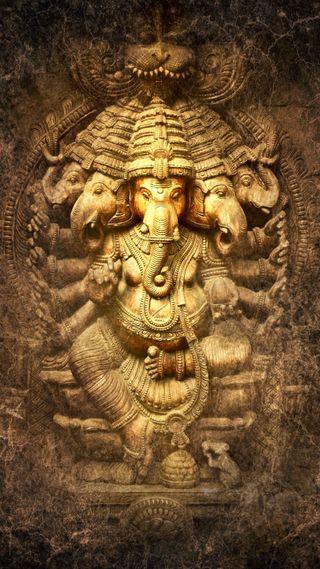 Обои на телефон статуя, ганеша, бог, panchmukhi