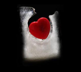 Обои на телефон холод, сердце, любовь, лед, love