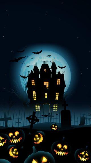 Обои на телефон хэллоуин, дом