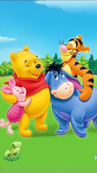 Обои на телефон пух, медведь, друзья, pooh bear, pooh and friends, piglet