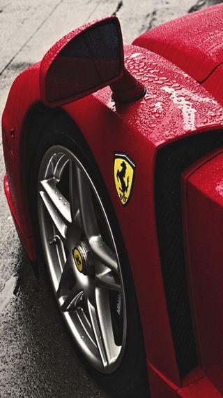 Обои на телефон феррари, машины, логотипы, красые, капли, дождь, ferrari