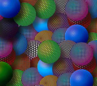 Обои на телефон шары, красочные, 3д, 3d