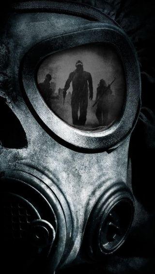Обои на телефон ядерные, тьма, маска, темные, другие, газ