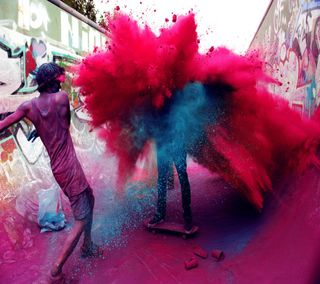 Обои на телефон фестиваль, цветные, улица, скейт, красые, арт, art