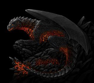 Обои на телефон дрейк, черные, темные, огонь, крылья, змея, дракон, dragon guardian, dragon, draco