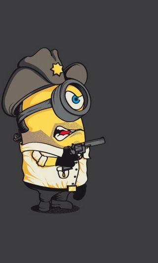 Обои на телефон полиция, я, оружие, миньоны, забавные, hd, cop