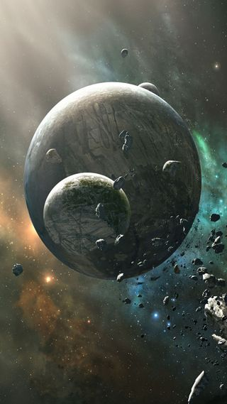 Обои на телефон планеты, collision