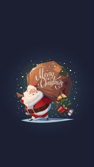 Обои на телефон счастливое, санта, рождество, подарки
