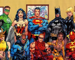 Обои на телефон герои, супермен, супер, мультфильмы, зеленые, бэтмен, super heroes
