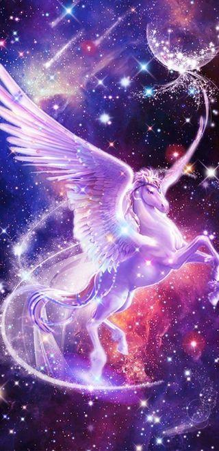 Обои на телефон девчачие, симпатичные, сверкающие, розовые, единорог, галактика, вселенная, блестящие, galaxy