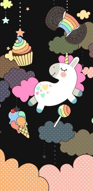 Обои на телефон сладости, пони, радуга, милые, красочные, единорог, unicornsweetclouds