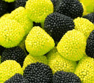 Обои на телефон фрукты, черные, красые, желтые, еда, barries