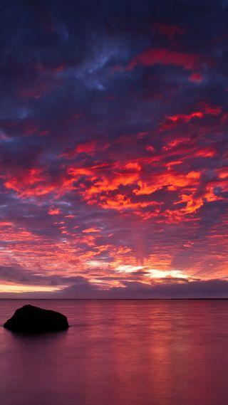 Обои на телефон море, закат, sunset at sea, at sea