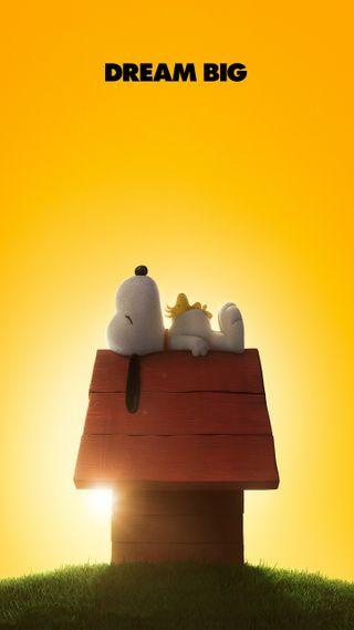 Обои на телефон снупи, собаки, мечта, коричневые, желтые, woodstock, peanuts, charlie