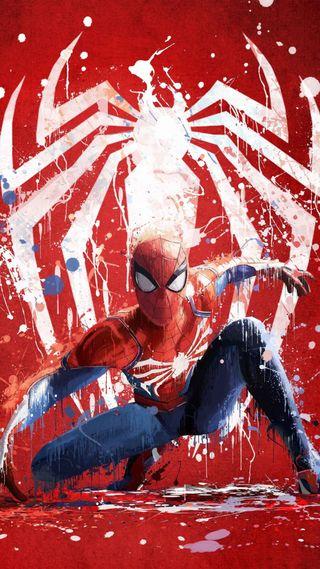 Обои на телефон паук, брызги, арт, spider-man splash, fans, art