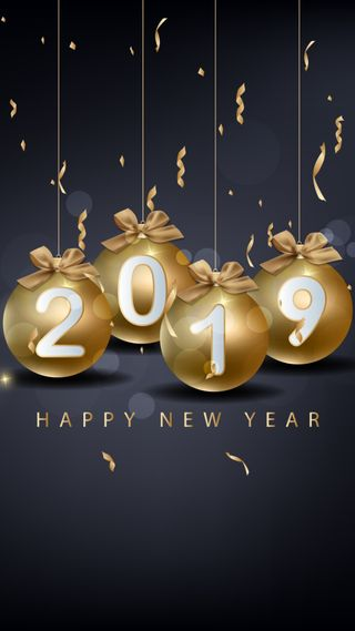 Обои на телефон пожелания, шары, счастливые, новый, любовь, золотые, высказывания, love, celebrations, 2019