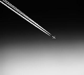 Обои на телефон самолет, небо