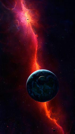 Обои на телефон гром, планета, космос, земля, lightnings, hd