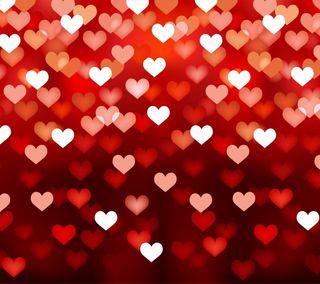 Обои на телефон формы, сердце, свет, романтика, любовь, красые, абстрактные, love, defocused