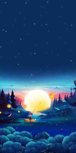 Обои на телефон вечер, утро, университет, небо, лес, вселенная, арт, hd, forset, art